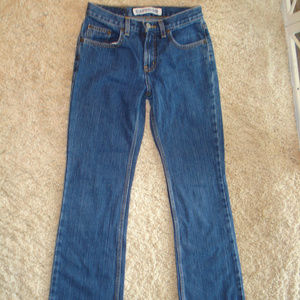 Flare Low Rise Precision Fit EXPRESS Jeans 1/2